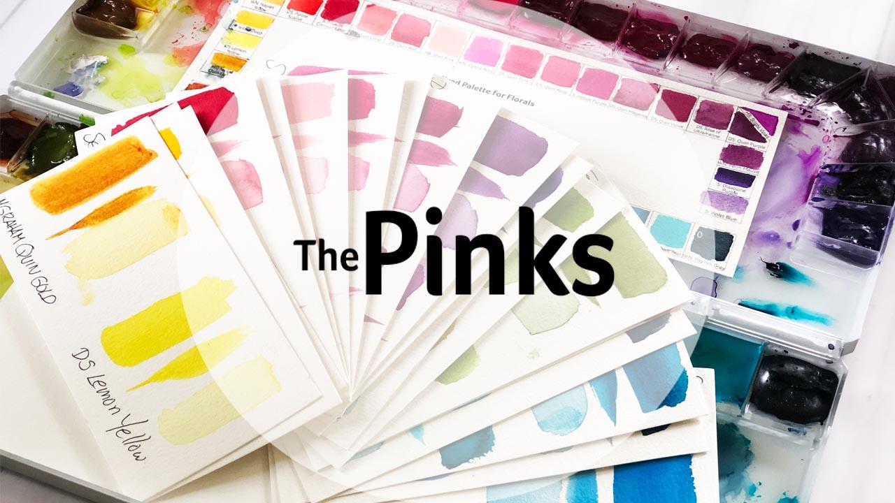 Watercolor palette series PINKS