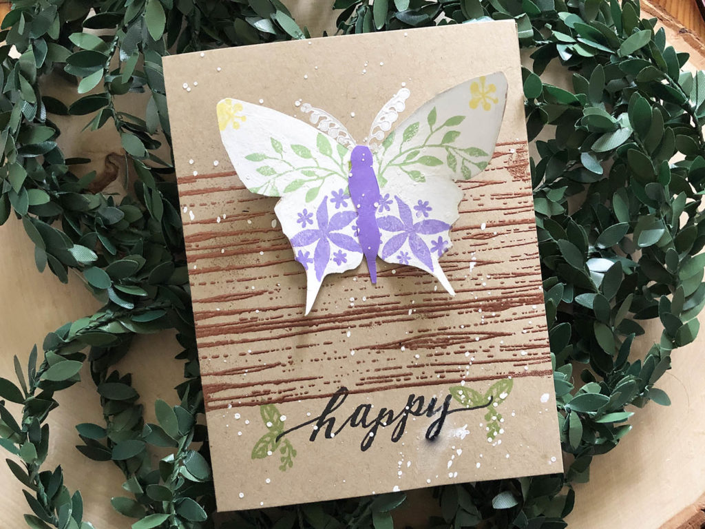 Rustic Butterfly Card Design with Gina K Designs