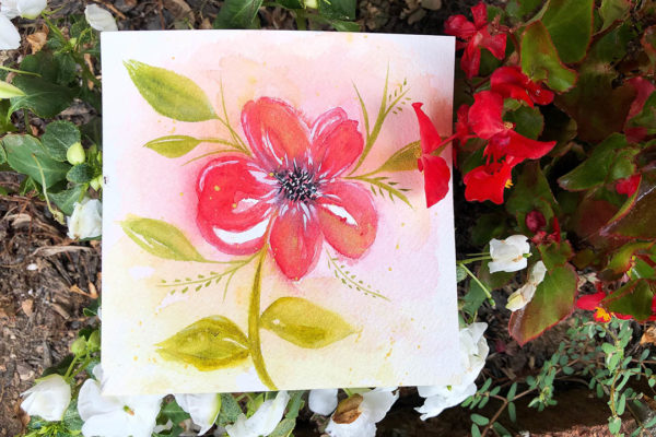 Here is an image of a watercolor bloom