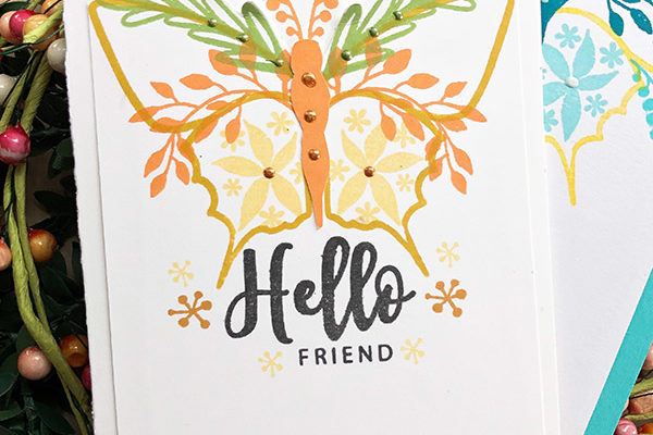 Hello Friend Card using Gina K Designs Stamps