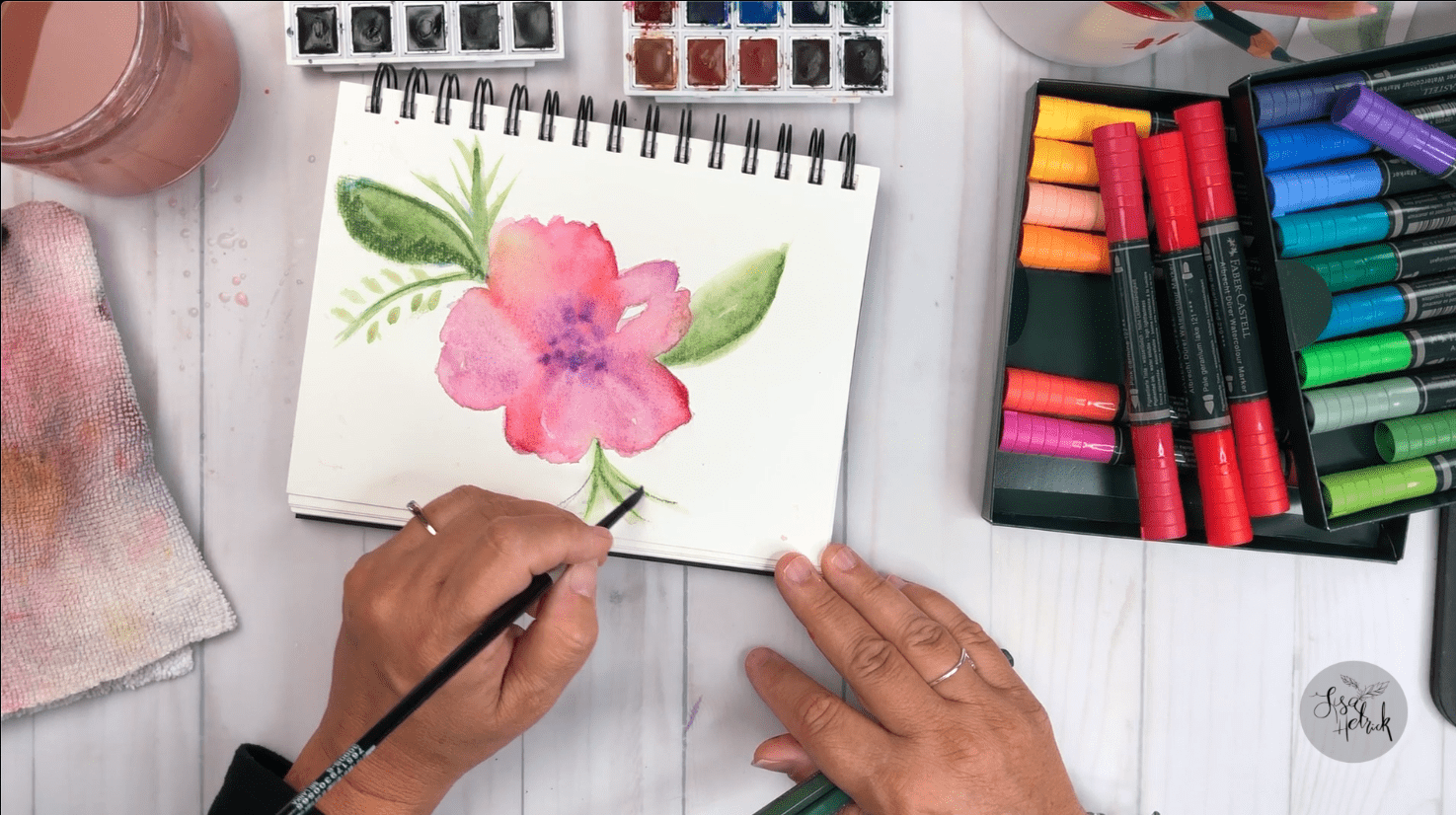 Watercolor Floral with Albrecht Durer Watercolors