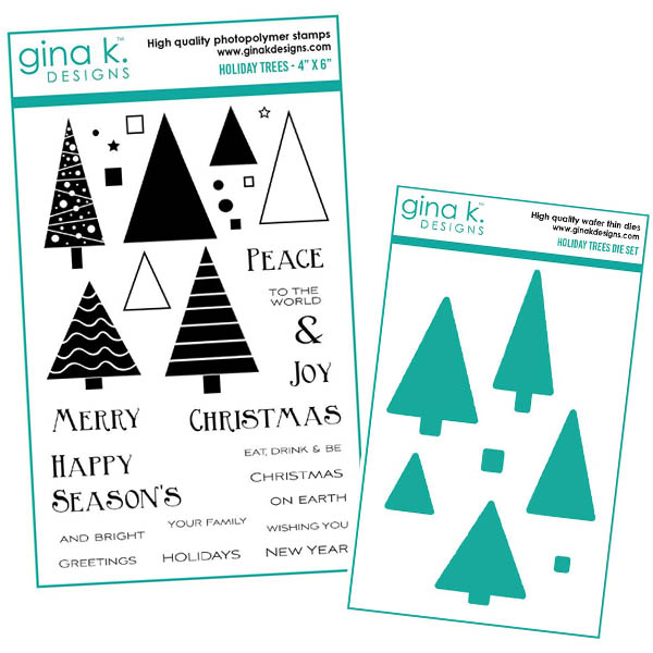 Holiday Trees Stamp Set by Beth Silaika