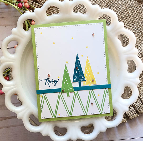 Holiday Trees by Beth Silaika Card sample