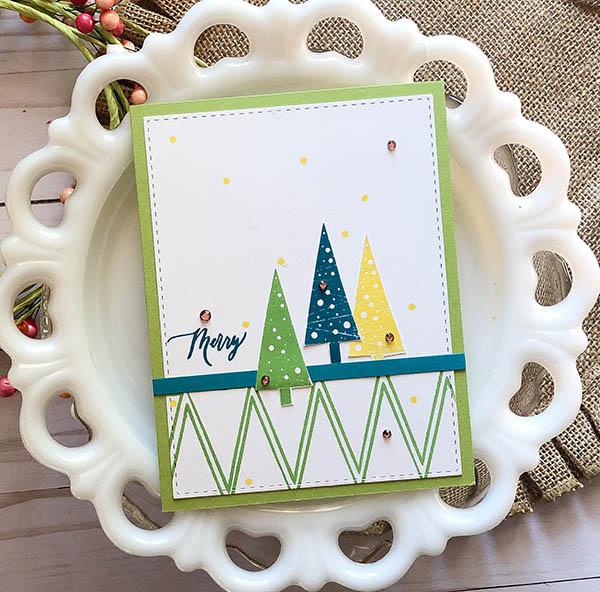 Holiday Trees by Beth Silaika Card sample