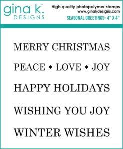 Holiday sentiment stamp set