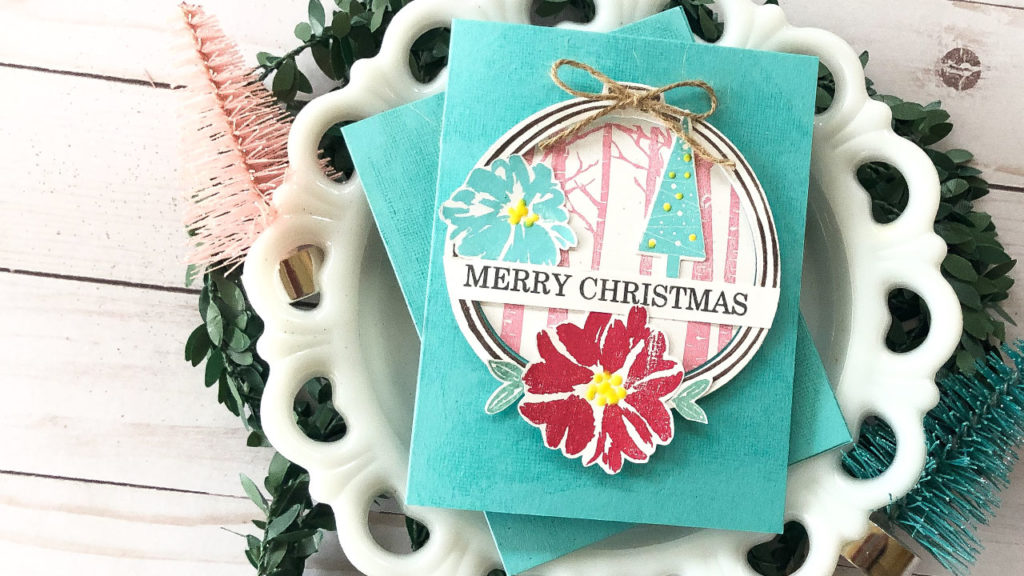 This is a vintage inspired christmas card using Gina K Designs products