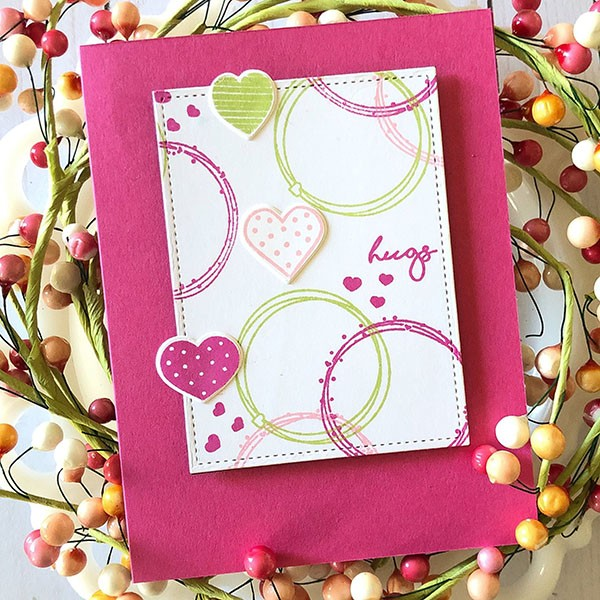 A fun whimsical card using hearts for valentines day