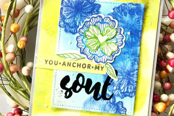 Soul card using distress oxide inks