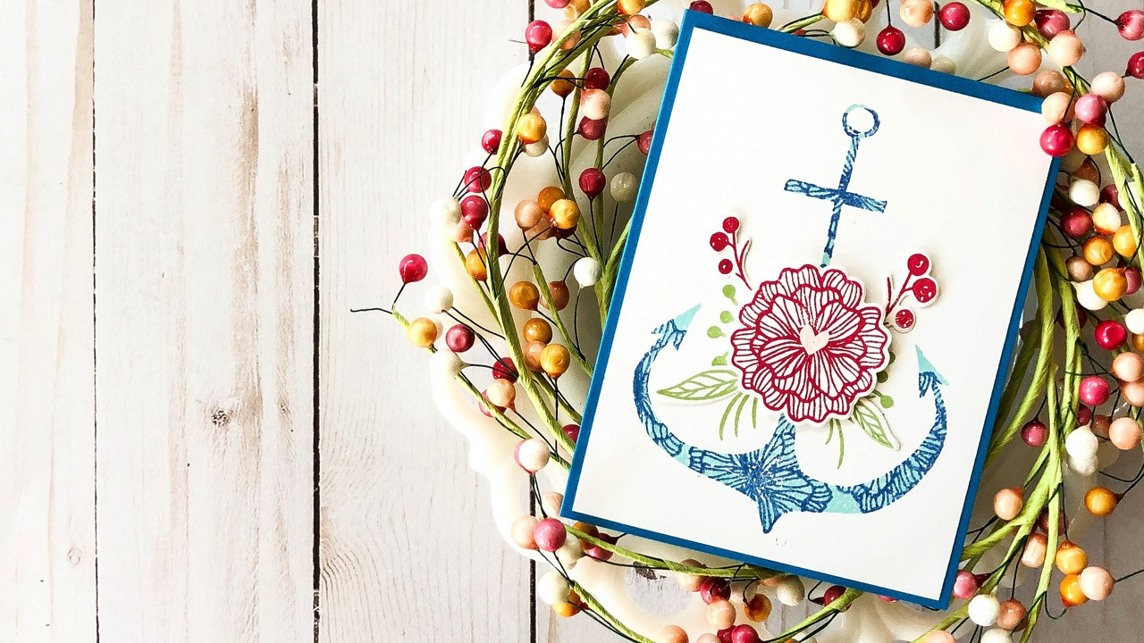 You Anchor Me Pattern Design Card