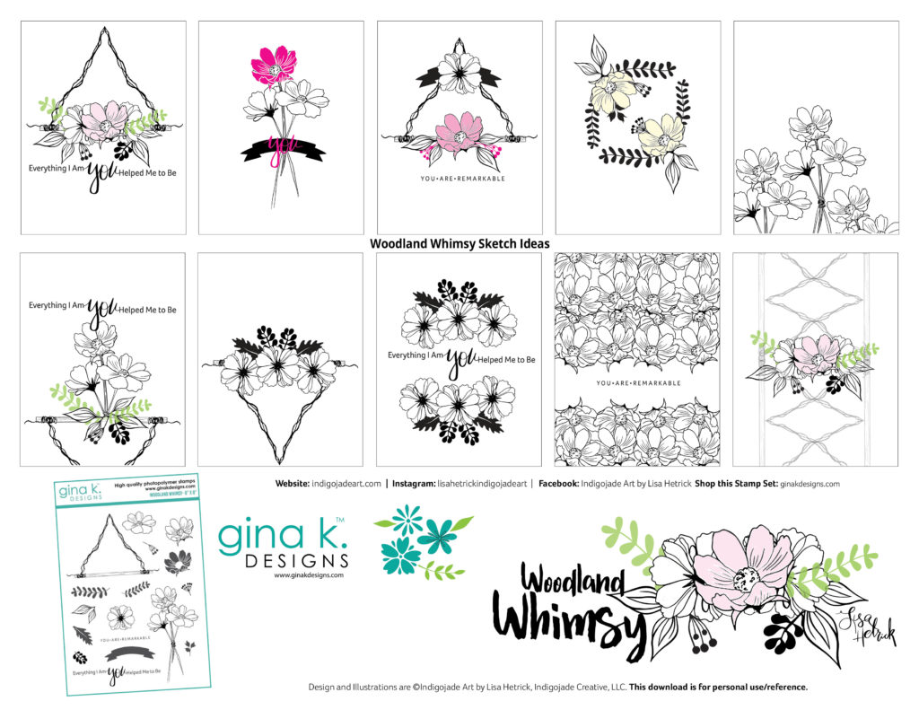 Woodland Whimsy Sketch Ideas