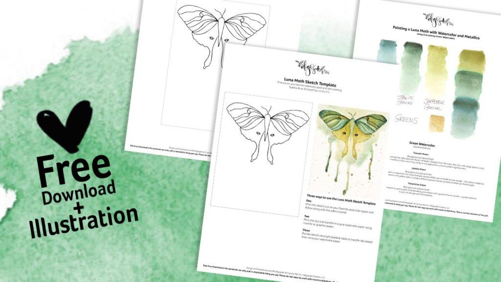 Free download for the Luna Moth Illustration