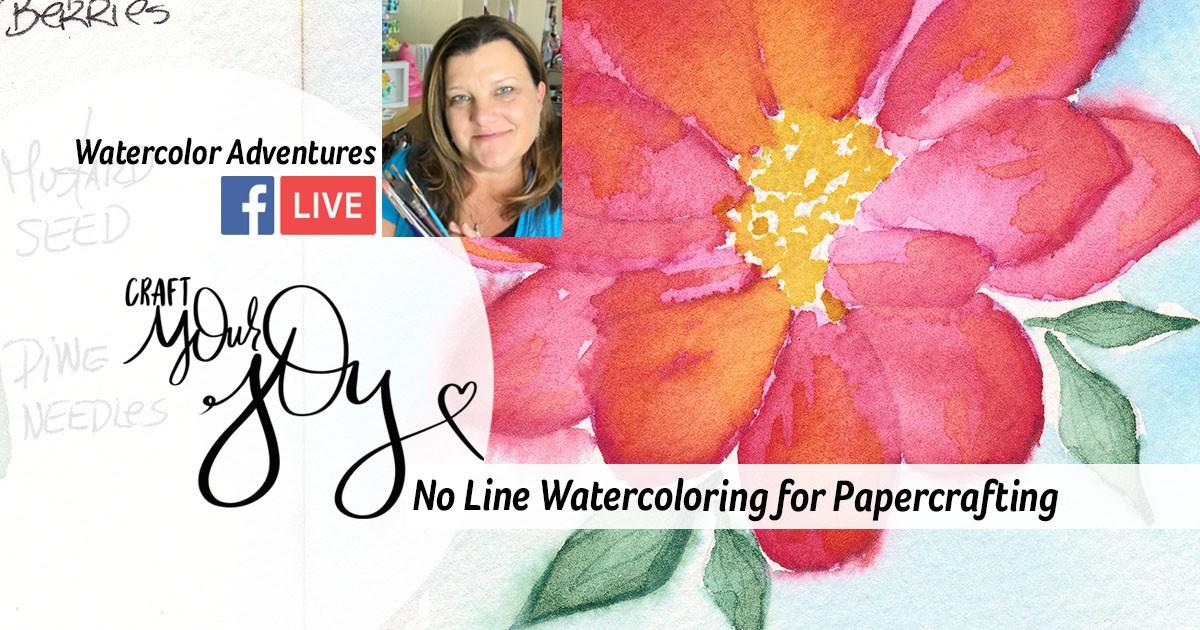 No line watercoloring