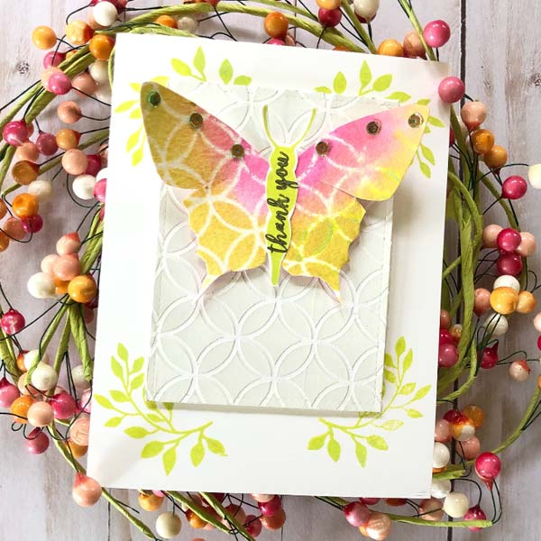 stencil pattern play with the your wings stamp set