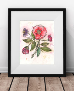 Free Art Print Bloom and Flow