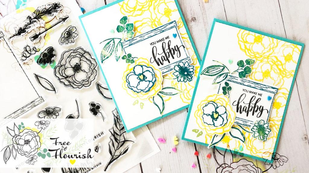 Card inspiration using Free to Flourish