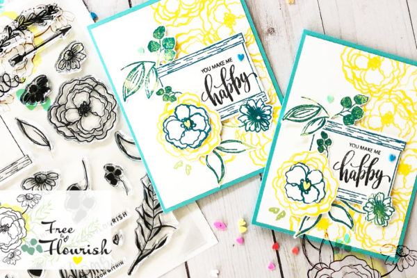 Card inspiration using Free to Flourish