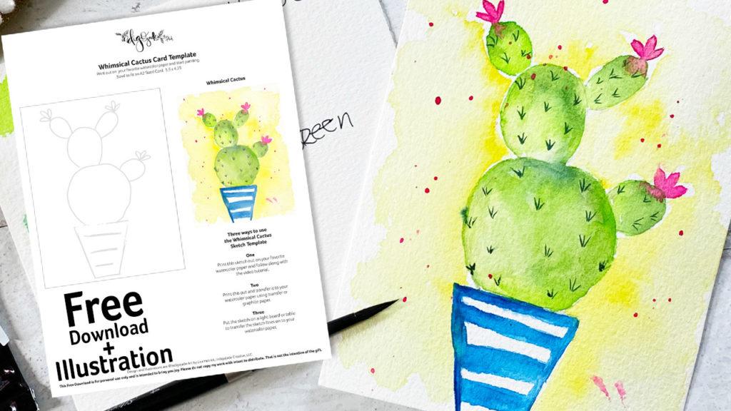 Cactus in Watercolor Download