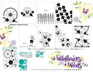 sketch idea sheet for wildflowers and weeds
