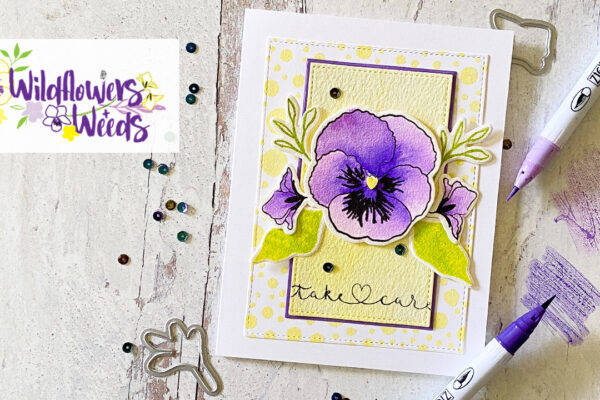 Wildflowers and Weeds Pansy Card