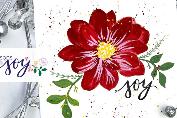 flowers in gouache