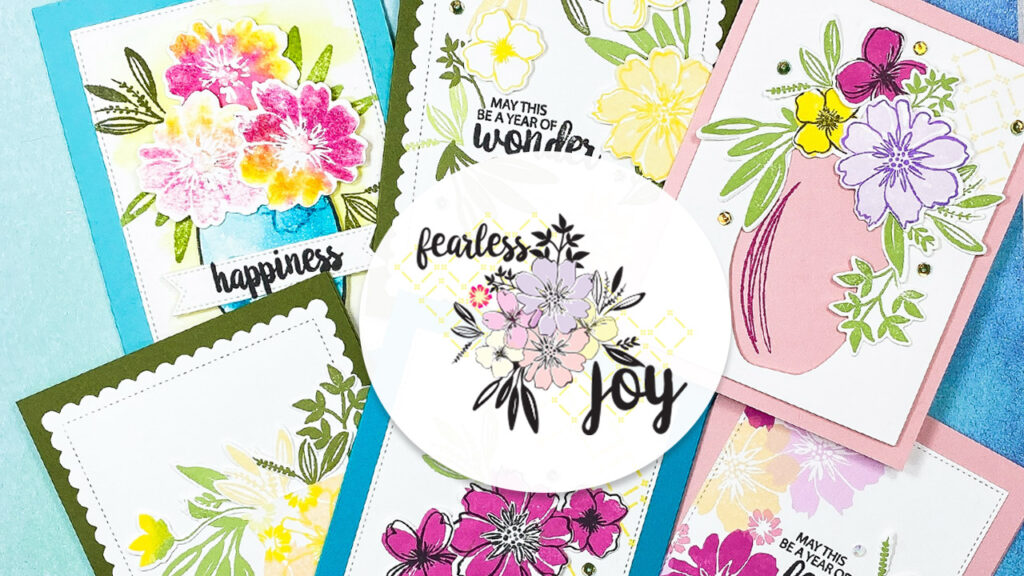 Card inspiration using the Fearless Joy stamp set