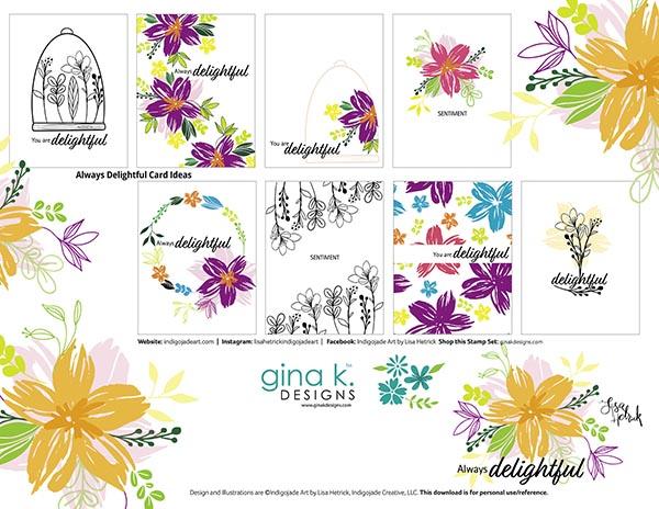 Card idea sheet for Always Delightful