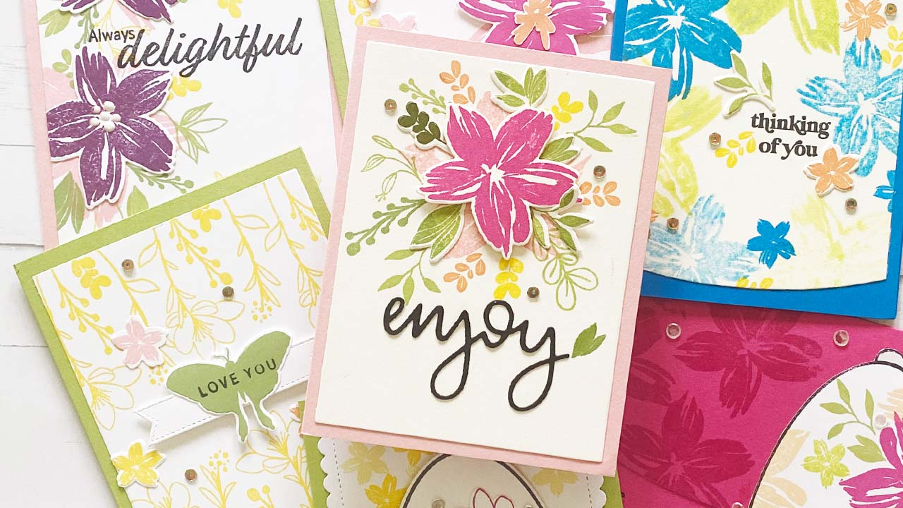 Samples of cards using Always Delightful