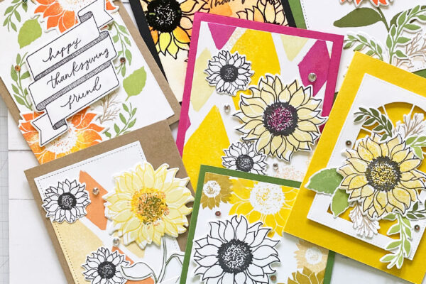 Bloom and Grow samples of cards