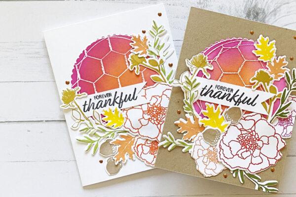 Card showing color blending